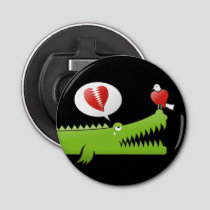 Alligator in Love Bottle Opener