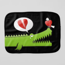 Alligator in Love Burp Cloth