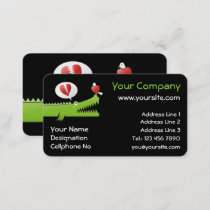 Alligator in Love Business Card