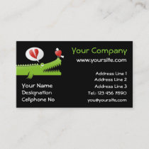 Alligator in Love Business Card