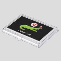 Alligator in Love Business Card Holder
