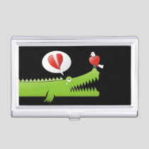 Alligator in Love Business Card Holder
