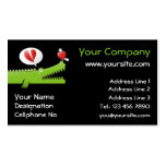Alligator in Love Business Cards