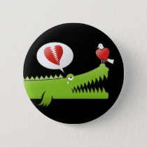 Alligator in Love Button