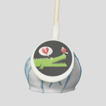 Alligator in Love Cake Pops