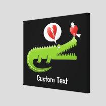 Alligator in Love Canvas Print