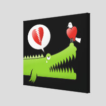 Alligator in Love Canvas Print