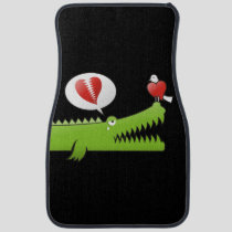 Alligator in Love Car Floor Mat