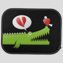 Alligator in Love Car Mat