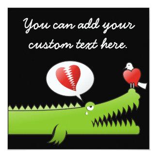 Alligator in Love Card