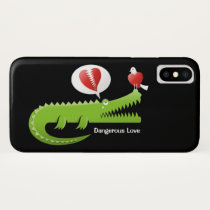 Alligator in Love iPhone X Case