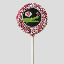 Alligator in Love Chocolate Covered Oreo Pop