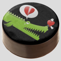 Alligator in Love Chocolate Dipped Oreo