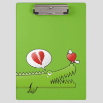 Alligator in Love Clipboard