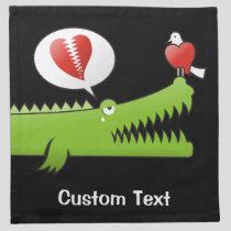 Alligator in Love Cloth Napkin
