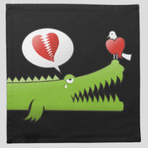 Alligator in Love Cloth Napkin
