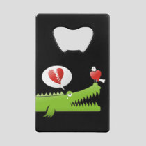 Alligator in Love Credit Card Bottle Opener