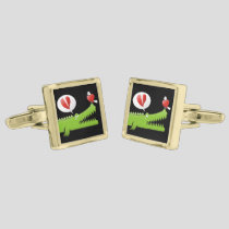 Alligator in Love Cufflinks