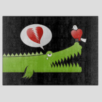 Alligator in Love Cutting Board