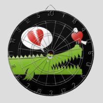 Alligator in Love Dart Board