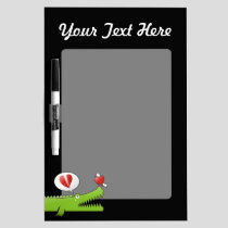 Alligator in Love Dry-Erase Board