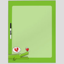 Alligator in Love Dry Erase Board