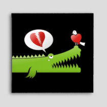 Alligator in Love Envelope