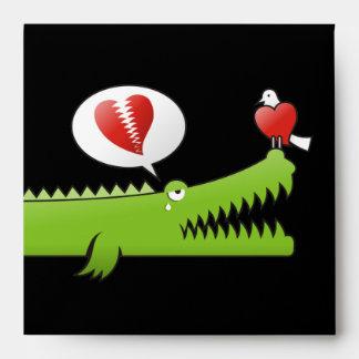 Alligator in Love Envelope