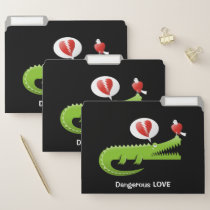Alligator in Love File Folder