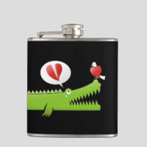 Alligator in Love Flask