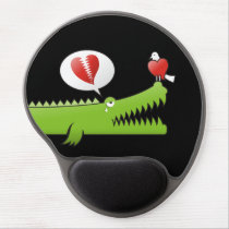 Alligator in Love Gel Mouse Pad