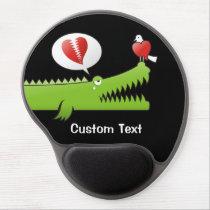 Alligator in Love Gel Mouse Pad