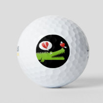 Alligator in Love Golf Balls