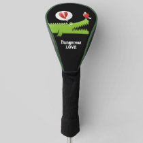 Alligator in Love Golf Head Cover