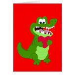 Alligator in Love Greeting Card