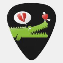 Alligator in Love Guitar Pick