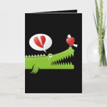 Alligator in Love Holiday Card