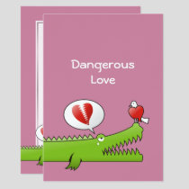 Alligator in Love Invitation