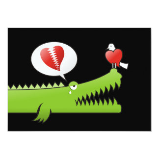 Alligator in Love 4.5x6.25 Paper Invitation Card