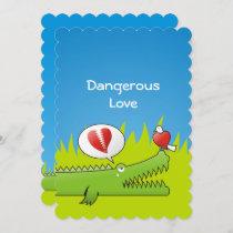 Alligator in Love Invitation