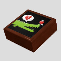 Alligator in Love Keepsake Box