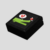 Alligator in Love Keepsake Box