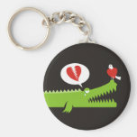 Alligator in Love Key Chain