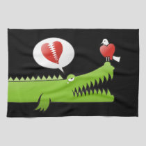 Alligator in Love Kitchen Towel