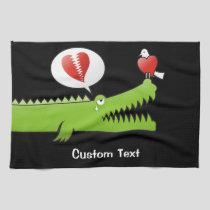 Alligator in Love Kitchen Towel