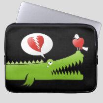 Alligator in Love Laptop Sleeve
