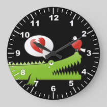 Alligator in Love Large Clock