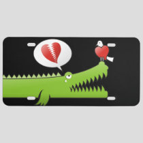 Alligator in Love License Plate