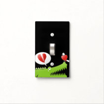 Alligator in Love Light Switch Cover