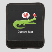 Alligator in Love Luggage Handle Wrap